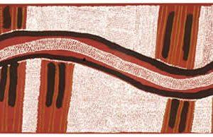 Abie Jangala, Rainbow Men II, Aboriginal art