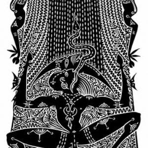 Alick Tipoti, Ariew Thurai Mabaig - Rain Caller, Torres Strait Islander art