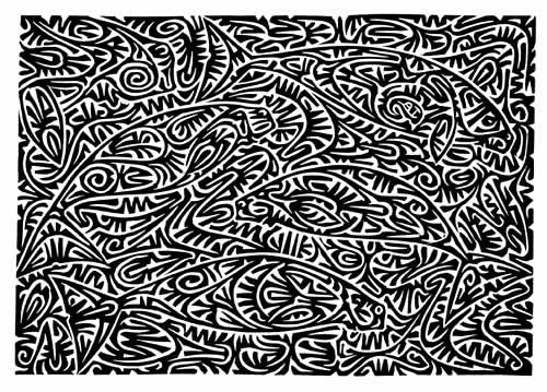 Alick Tipoti, Dhangal Launga Mizin, Torres Strait Islander art