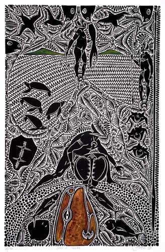 Alick Tipoti, Wadh A Zigin, Torres Strait Islander art