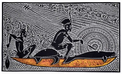 Alick Tipoti, Alick Tipoti, Mulungu, Torres Strait Islander art