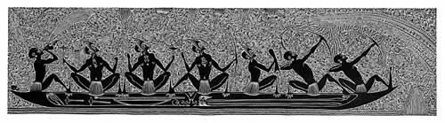 Alick Tipoti, Kowbu Maril - (Canoe War Spirits), Torres Strait Islander art