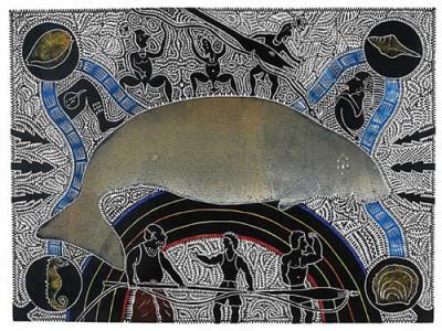 Billy Missi, Dhangal Um Araik, Torres Strait Islander art