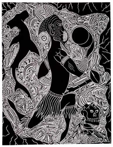 David Bosun, Merlpal Mari Pathanu, Torres Strait Islander art