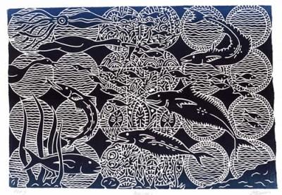 David Bosun, Nagai, Torres Strait Islander art