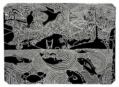 David Bosun, Kek - Monsoon Season, Torres Strait Islander art