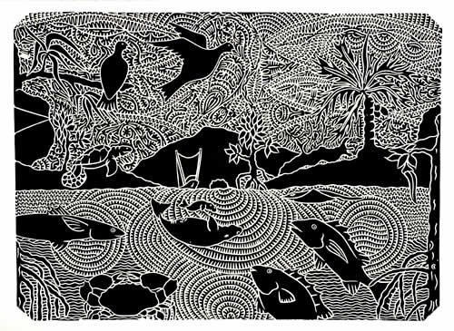 David Bosun, Kek - Monsoon Season, Torres Strait Islander art