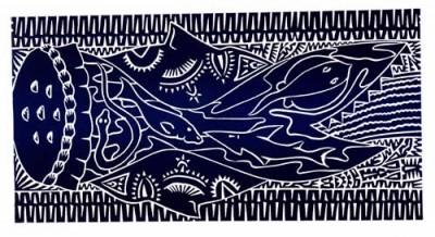 David Bosun, Mariel Kab (Spirit Dance), Torres Strait Islander art