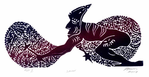 David Bosun, Sauran Urthuik (Planting Yam), Torres Strait Islander art