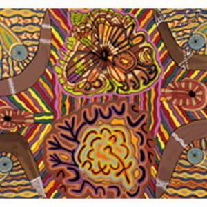 Doris Gingingara, Rainstorm Magic, Aboriginal art