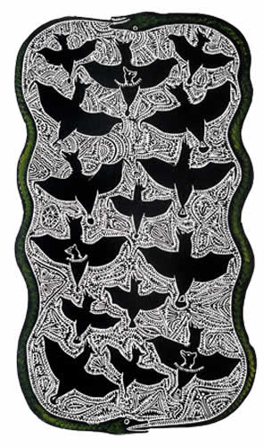 Dennis Nona, Tabu A Sapur - Snake and Flying Fox), Torres Strait Islander art