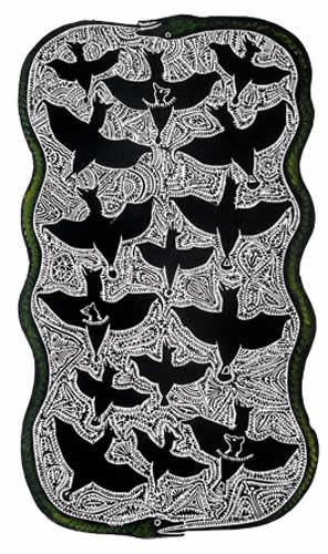 Dennis Nona, Tabu A Sapur - Snake and Flying Fox), Torres Strait Islander art