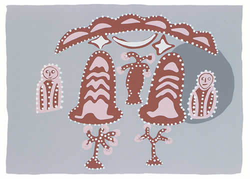 Hector Jandanay, Owl Dreaming, Aboriginal art