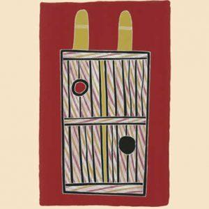 Johnny Bulunbulun, Body Design I - Djilbunyamorr Waterhole Bodypaint Design, Aboriginal art