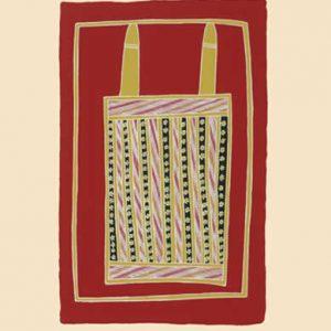 Johnny Bulunbulun, Body Design II - Warrnyu Black Flying Fox Body Design, Aboriginal art