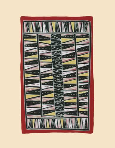Johnny Bulunbulun, Body Design IV - Lunggurruma Northwest Wind Bodypaint Design, Aboriginal art