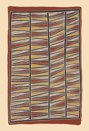 Johnny Bulunbulun, Body Design V - Lunggurruma Northwest Wind Bodypaint Design, Aboriginal art