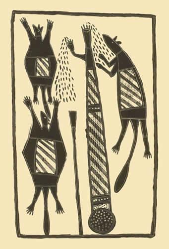 Johnny Bulunbulun, Sugar Glider, Aboriginal art