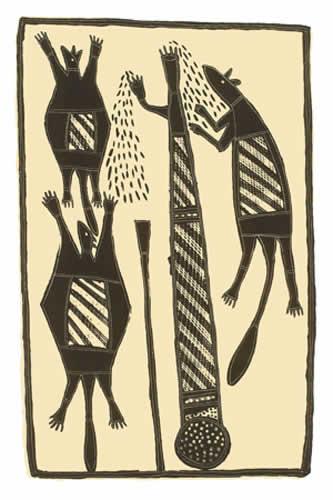 Johnny Bulunbulun, Sugar Glider (Buff), Aboriginal art