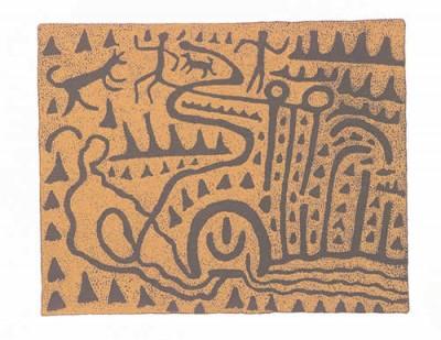 Jimmy Pike, Grandfather and Grandson II, Aboriginal art