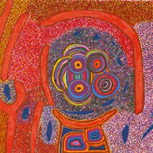 Jimmy Pike, Japingka Waterhole - Dreamtime Story, Aboriginal art