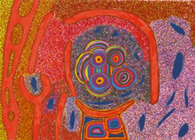 Jimmy Pike, Japingka Waterhole - Dreamtime Story, Aboriginal art