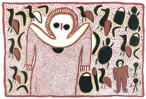 Lily Karedada, Wandjina Rainmaker, Aboriginal art