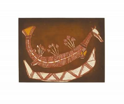Lofty Nadjamerrek, Rainbow Serpent, Aboriginal art