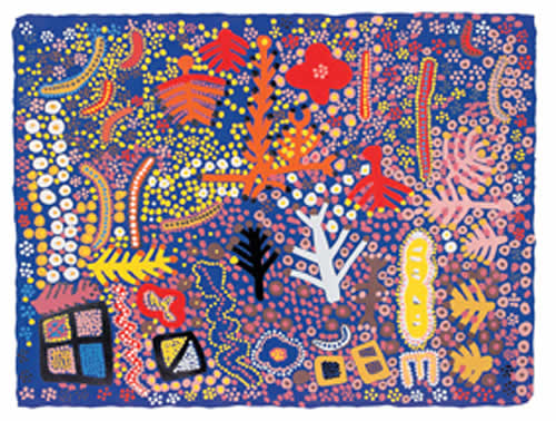 Marlee Napurrula, Flowers and Trees, Aboriginal art