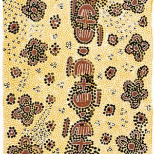 Molly Napurrurla Tasman, Wild Bush Plum, Aboriginal art