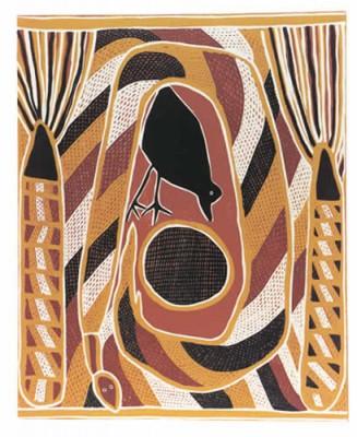 Namiyal Bopirri. Crow and Widitj (Wagilag Story), Aboriginal art