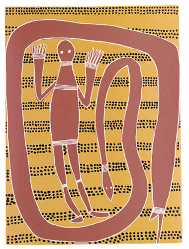 Phillip Gudthaykudthay, Widtji and Sisters, Aboriginal art