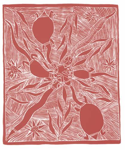 Roy Burrunyula, Waterhole at Arafura Swamp (State II), Aboriginal art