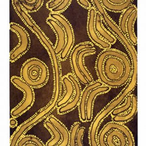 Ronnie Jakamarra Lawson Men's Dreaming II - (Sepia and Yellow Ochre), Aboriginal art