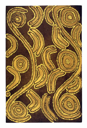 Ronnie Jakamarra Lawson Men's Dreaming II - (Sepia and Yellow Ochre), Aboriginal art