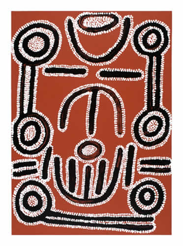 Ronnie Jakamarra Lawson, Women's Dreaming, Aboriginal art