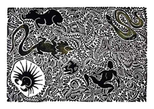 Solomon Booth, Lagau Uruil, Torres Strait Islander art