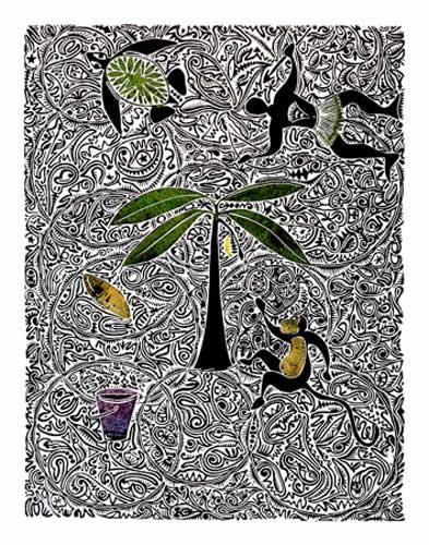 Solomon Booth, Monkey and Turtle, Torres Strait Islander art