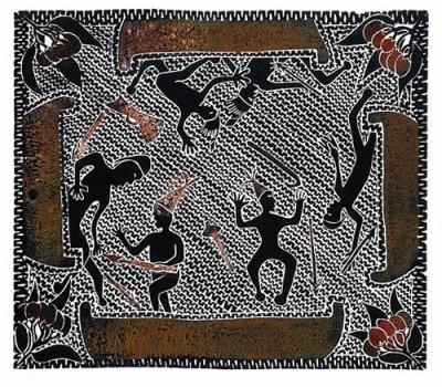 Victor Motlop, Battle During Trading, Torres Strait Islander art