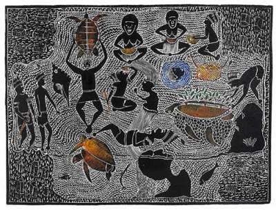 Victor Motlop, Karakarkula, Torres Strait Islander art