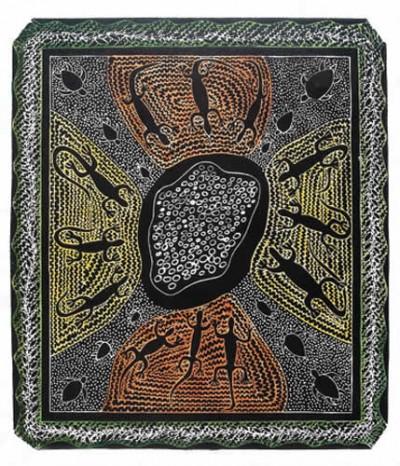 Victor Motlop, Waru Kakaru Thonar - Turtle Egg Laying Season, Torres Strait Islander art