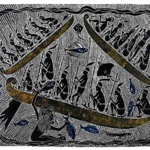 Victor Motlop, Seven Blind Brothers (State I, sold together with State II), Torres Strait Islander art
