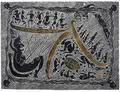 Victor Motlop, Seven Blind Brothers (State II, sold together with State I), Torres Strait Islander art
