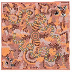 Michelle Possum, Two Snake Dreaming, Aboriginal art