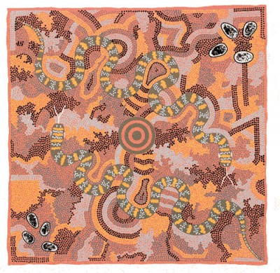 Michelle Possum, Two Snake Dreaming, Aboriginal art