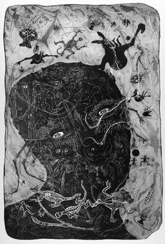 Bevan Hayard Pooaraar, Through the Mists of Time, Aboriginal art