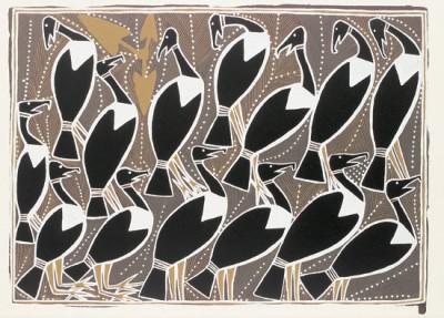 George Milpurrurru, Magpie Geese, Aboriginal art