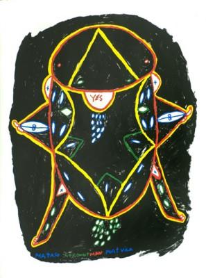 Simeon Simix, Mataso Coconut Man, Port Vila, Vanuatu art