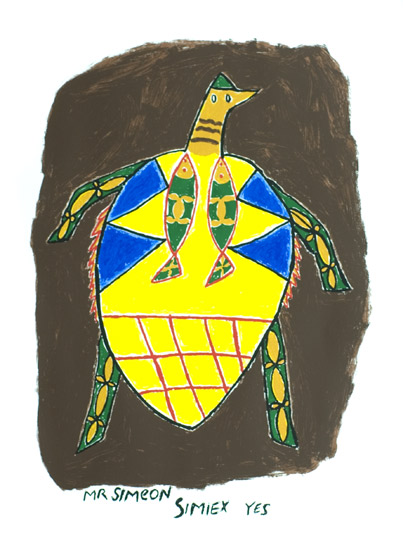Simeon Simix, Turtle Man, Vanuatu art