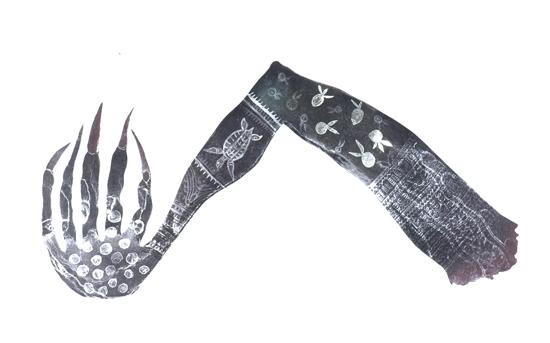 Dennis Nona, Zuga Zug (Witch's Chant) (winner works on paper at 28th Telstra Indigenous Art Award), Torres Strait Islander art